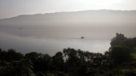 The mist on Loch Ness starting to clear.